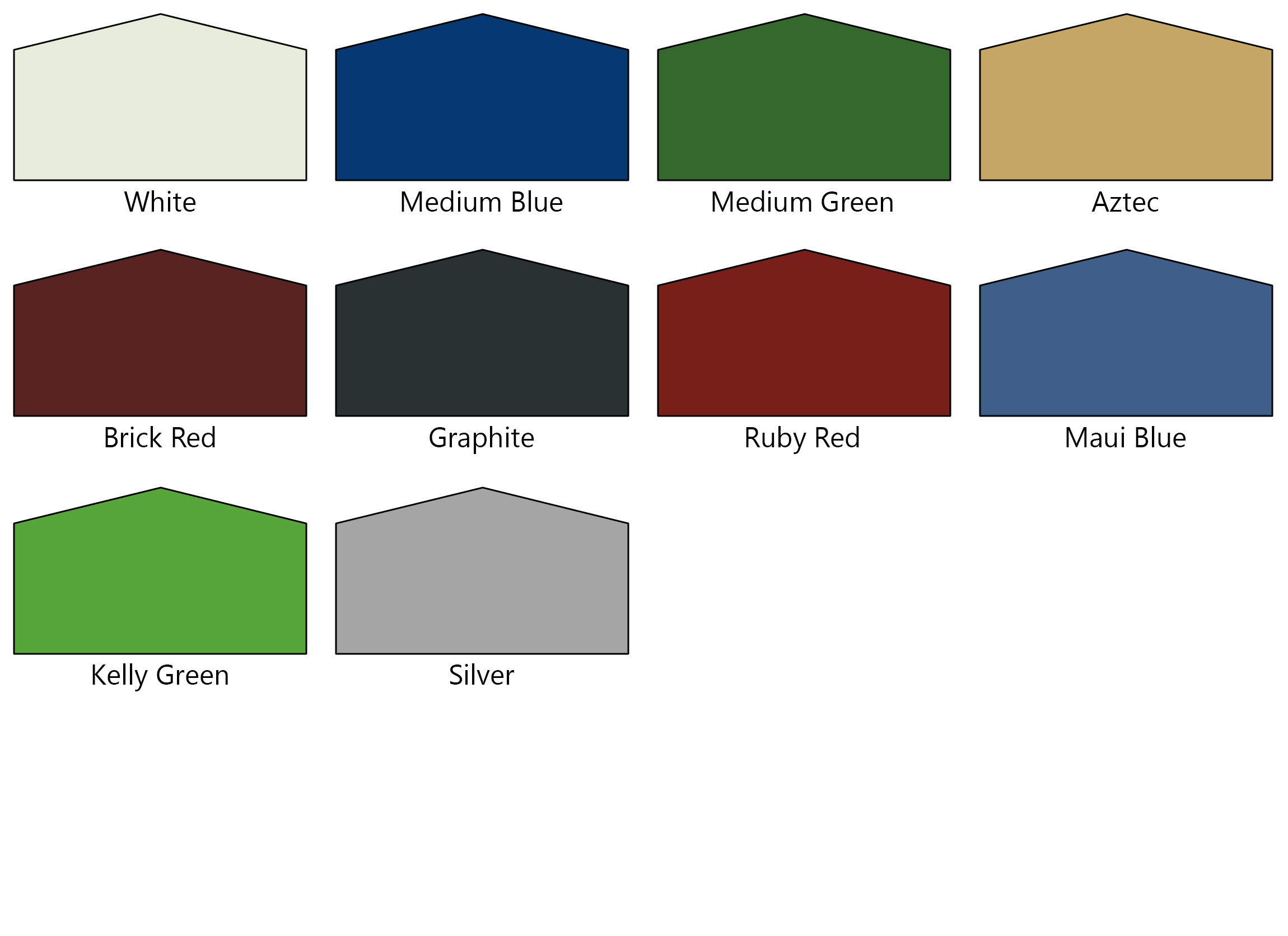 Color Chart For Metal Building